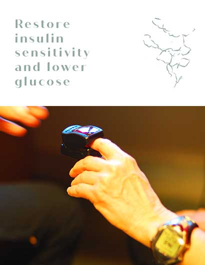 Restore insulin sensitivity and lower glucose mobile
